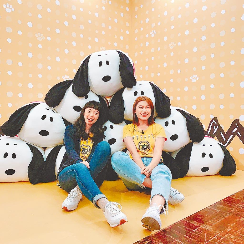 走進新光三越台南新天地「PEANUTS花生漫畫史努比70周年巡迴展」立馬喚起童心。(新光三越提供)