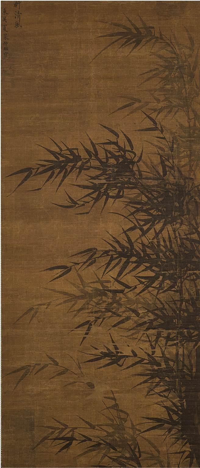 夏昶的《墨竹》對屏為蘇富比香港春拍的重點拍品。(香港蘇富比提供)