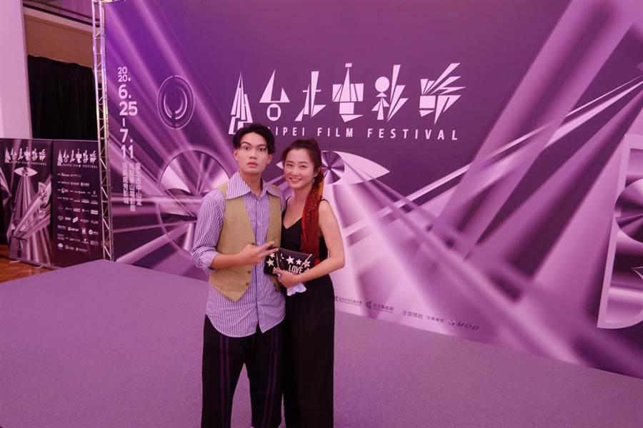 趙小僑繼子劉子銓演出電影《無聲》為今年台北電影節開幕電影,她特地出席力挺。(修毅提供)