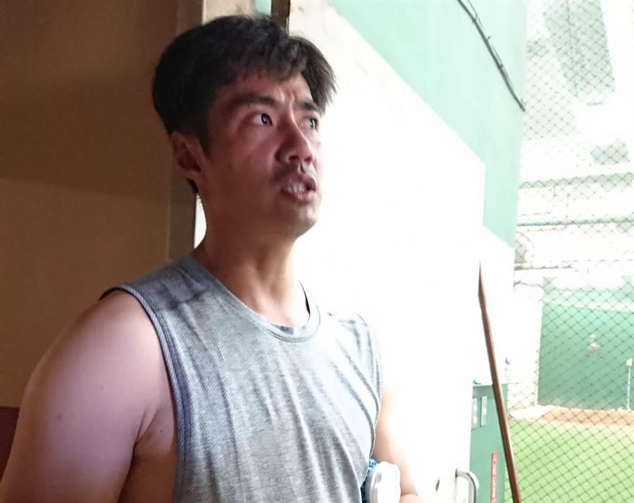 陳偉殷還在猶豫赴美打球。(陳志祥攝)