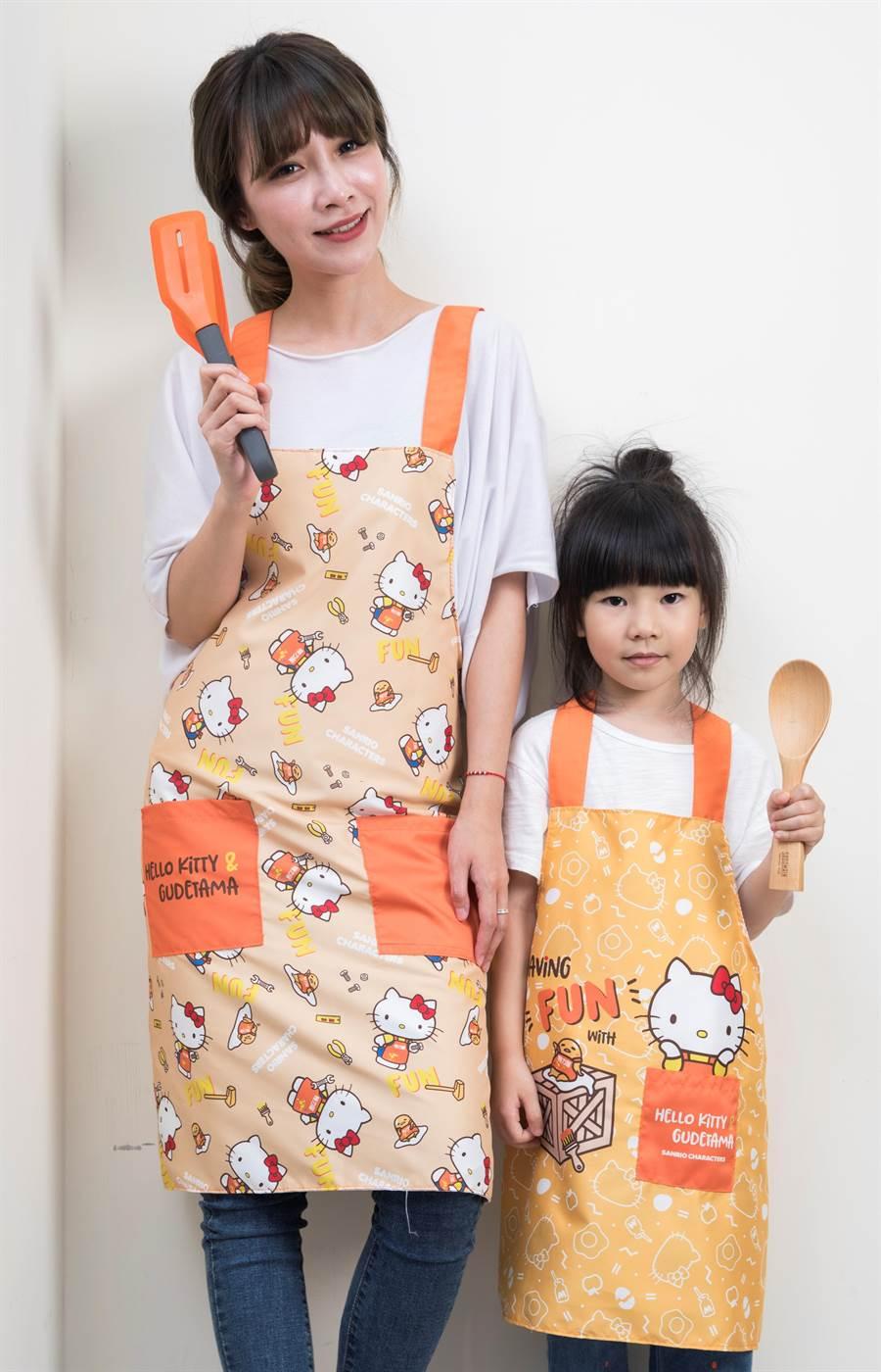 HELLO KITTY &蛋黃哥限量指定款圍裙加價購。(特力屋提供)
