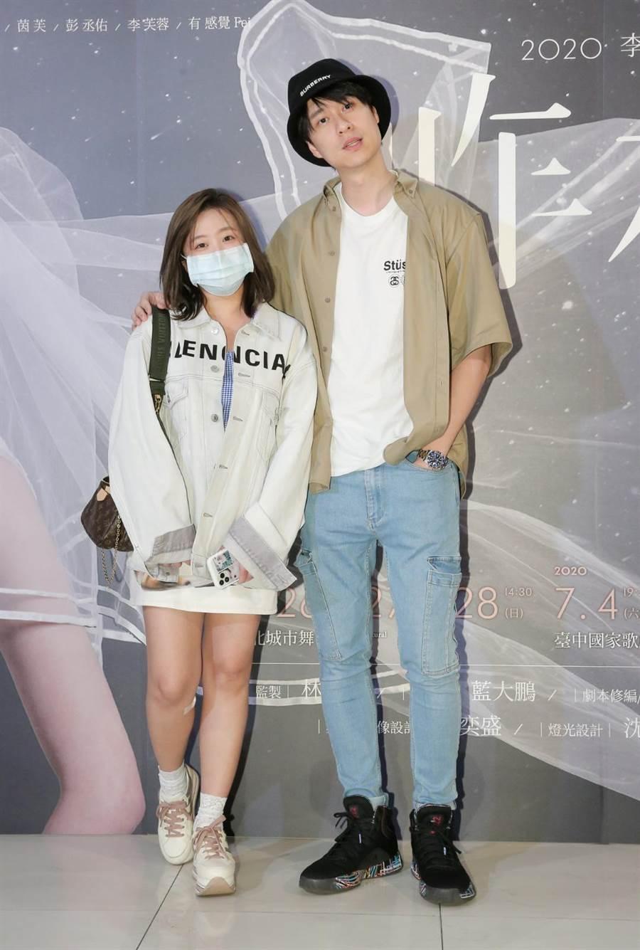刘书宏和女友茵声26日前往欣赏《昨夜星辰》舞台剧。(卢祎祺摄)