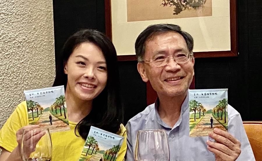 台北市副市長蔡炳坤(右)與民眾黨不分區立委高虹安頻到台中固椿,布局台中市下屆市長、市議員選舉。(盧金足攝)