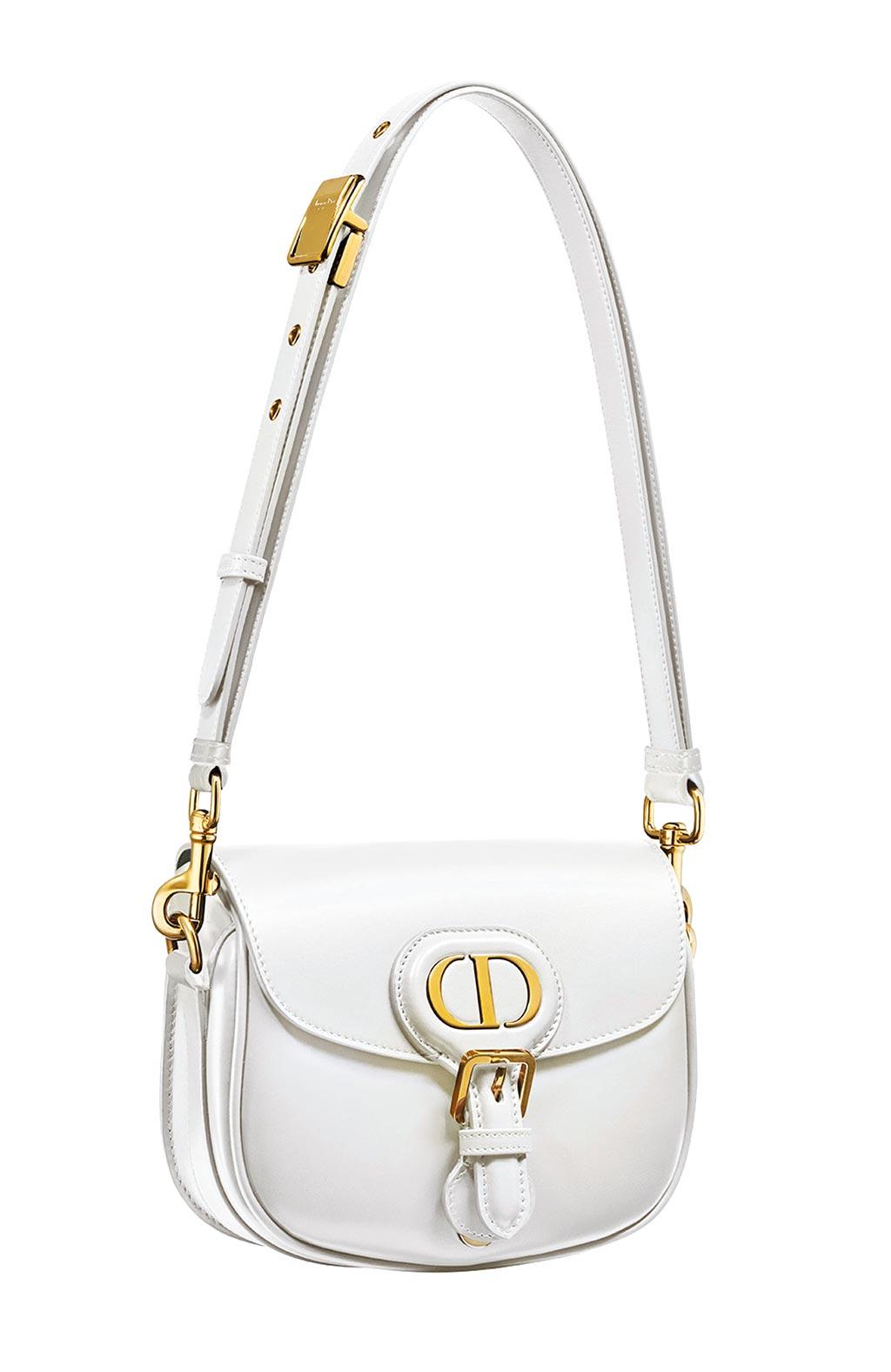 Dior Bobby白色光滑小牛皮小型肩背包,9萬9000元。(Dior提供)