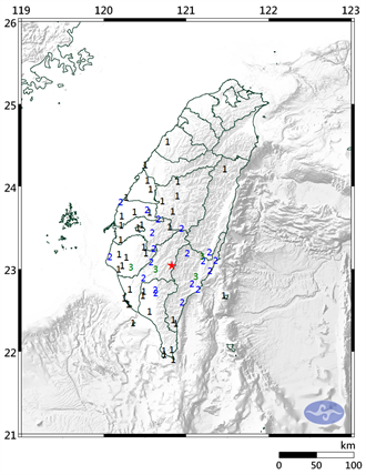 高雄連2震!07:27發生規模4.8地震 最大震度3級