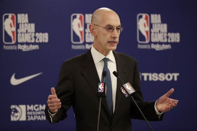 NBA總裁席爾佛公開表態,將會尊重和平抗議方式。(美聯社)