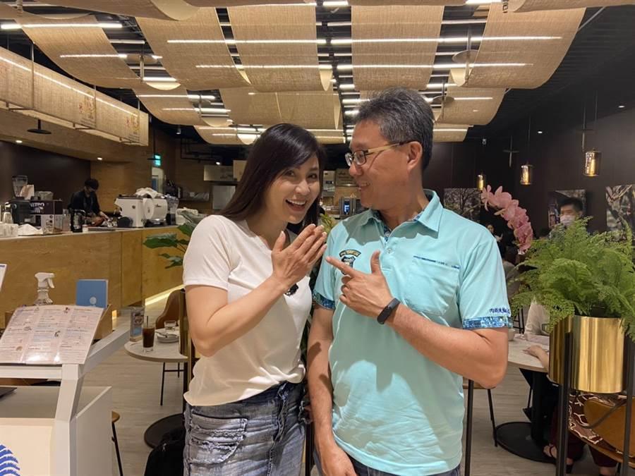 製片余峰銘(右)覺得梁佑南渾身是戲,兩人對拍這部電影有共識。(余峰銘提供)