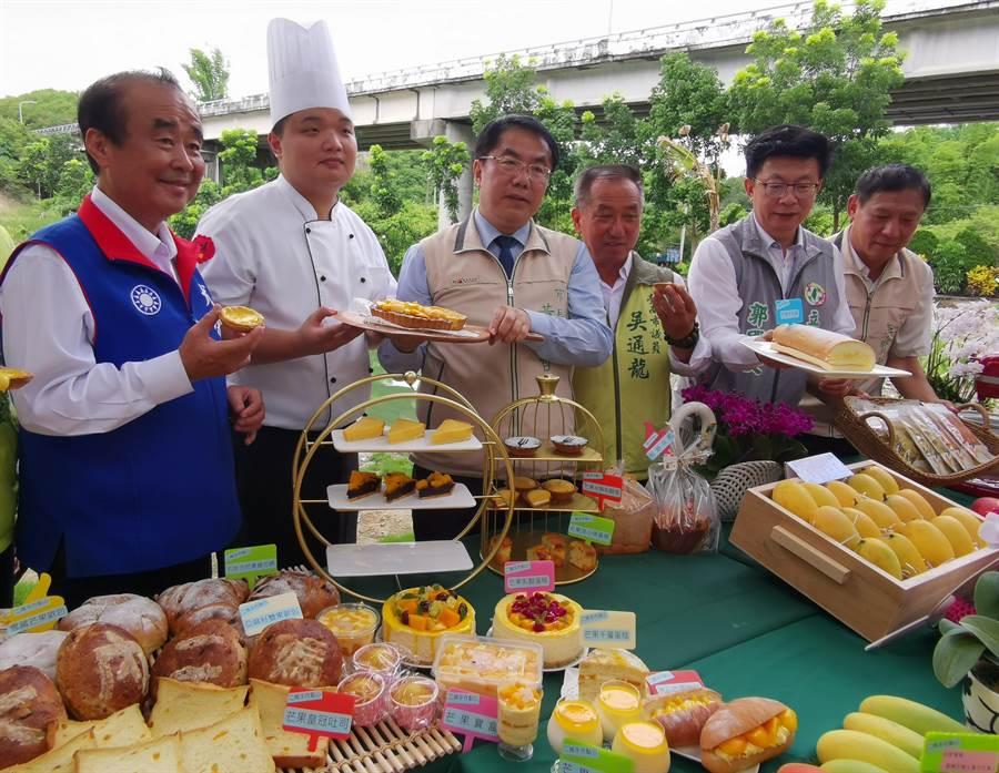 台南國際芒果節「大內芒果芒一夏」活動7月5日將於大內青果集貨場展開,不但有趣味闖關遊戲,還有美味的芒果麵包、蛋糕。(劉秀芬攝)