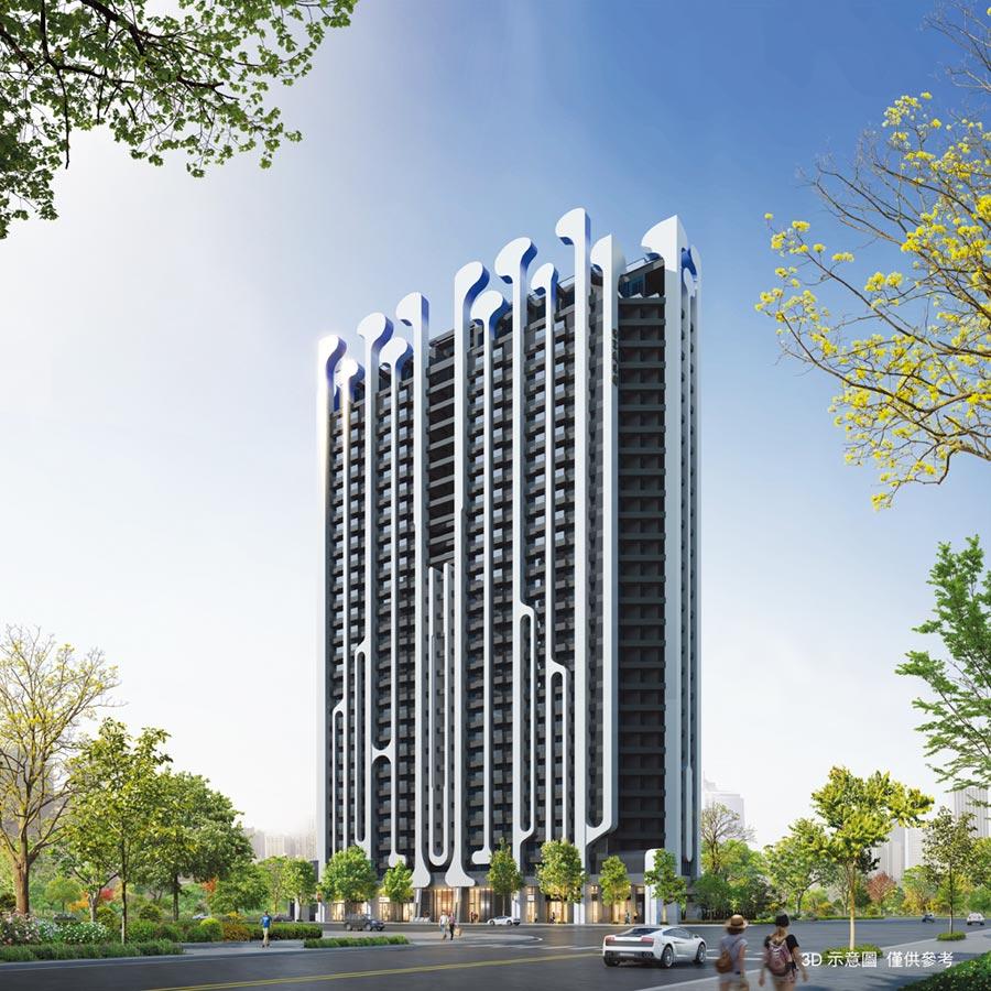京城建設在亞灣推出的「世界心」大樓住宅,鎖定首購族群。圖/京城建設提供