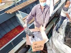 馬祖海巡隊 緝獲2陸船走私洋菸6萬條