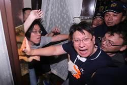 國民黨突襲佔領議場 與駐衛警發生多起推擠