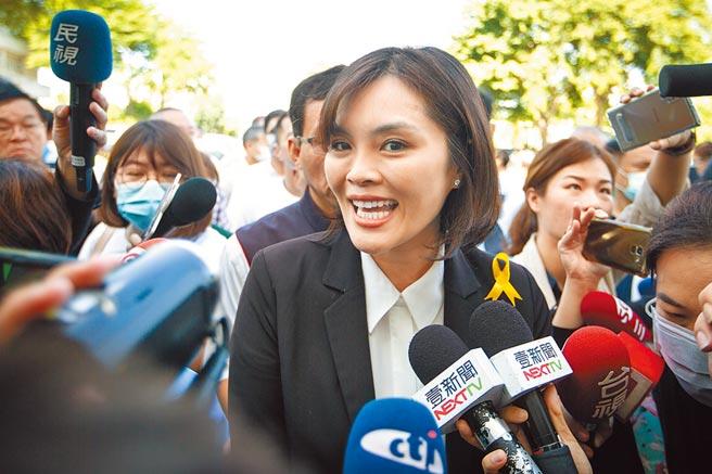 國民黨高雄市長補選參選人李眉蓁。(資料照/袁庭堯攝)