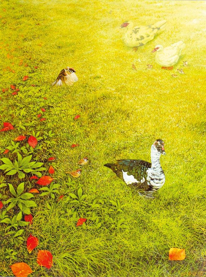 張國二,《晨間 》,油畫,116.5 x 91cm。圖片提供/潘蓬彬