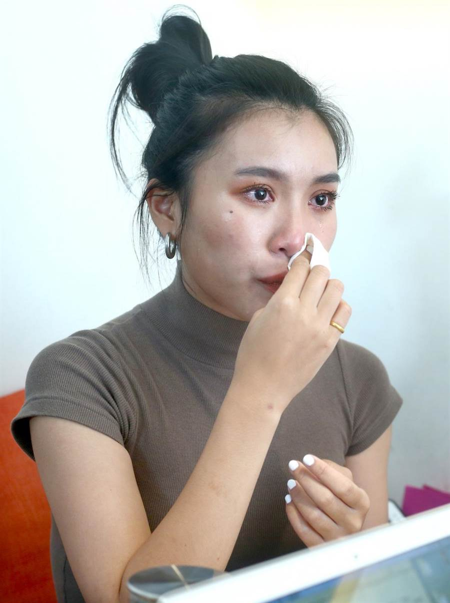 郭雅茹和母親感情深厚,談到母親總忍不住淚水。(粘耿豪攝)