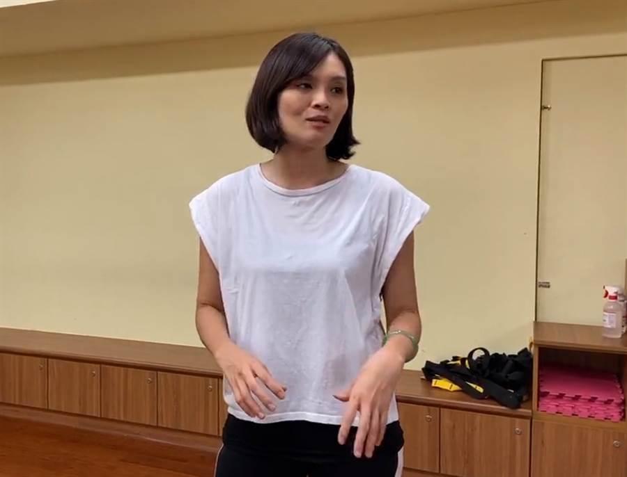 國民黨高雄市長補選候選人 李眉蓁。(圖/翻攝 李眉蓁 臉書直播)