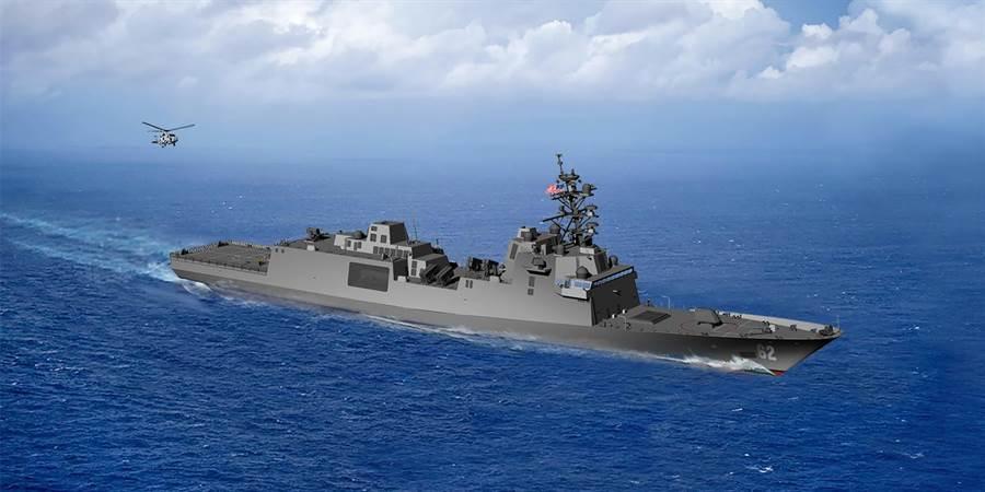 美國海軍FFG-X的構型。(圖/美國海軍)