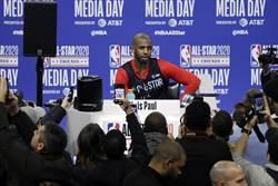 NBA》球衣印平權 保羅:給大家表達機會