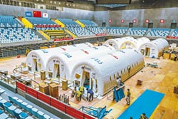 大興體育中心 充氣艙核酸實驗室運行