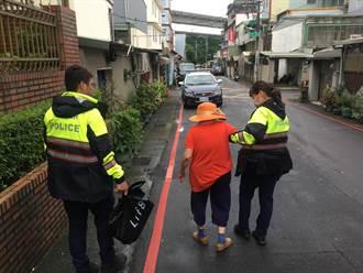 桃園七旬失智婦迷走街頭 警方熱心助返家