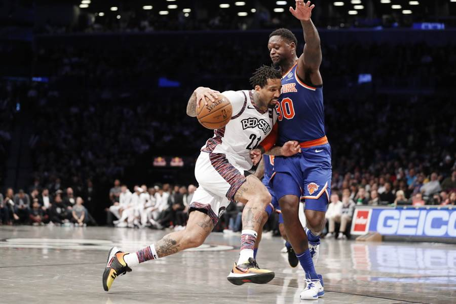 籃網前鋒威爾森錢德勒(持球者)宣布不會參加復賽。(美聯社)