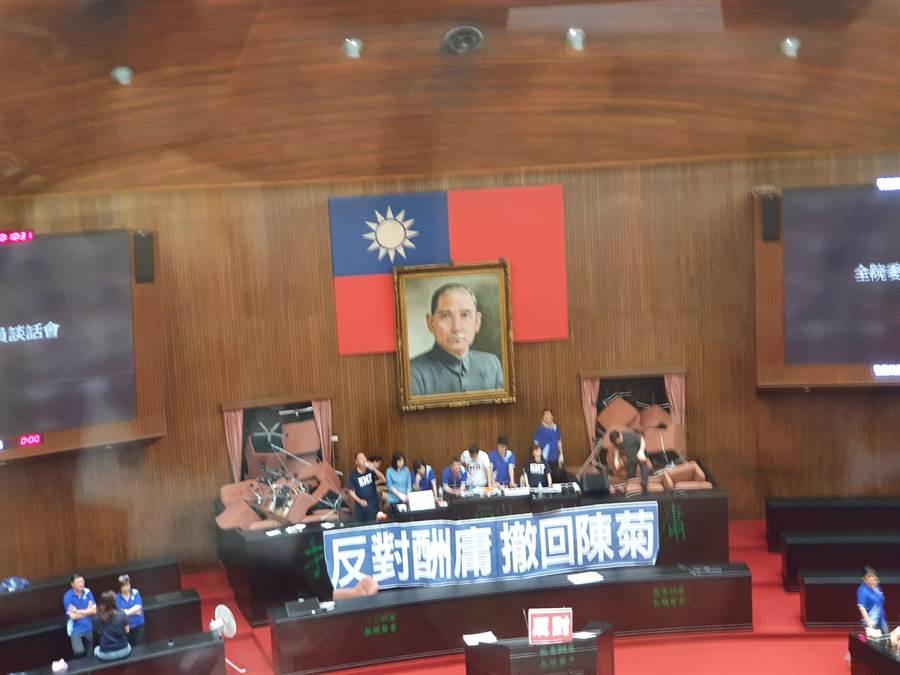 立法院議場內部照片。(圖/讀者提供)