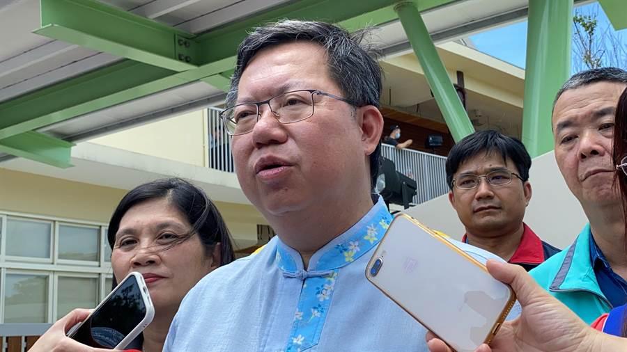 藍委衝立院,桃園市長鄭文燦認為非民主之福。(蔡依珍攝)