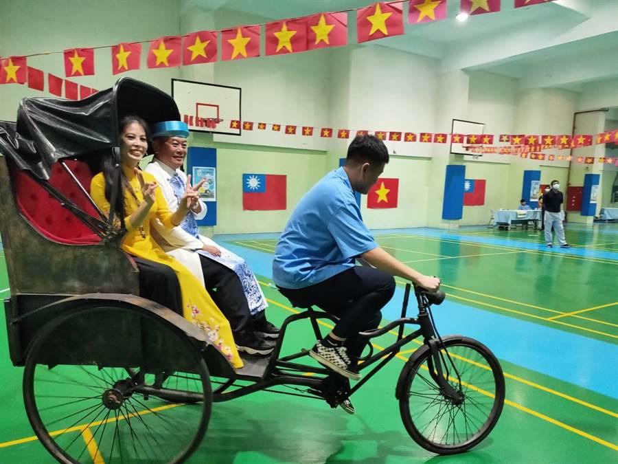 竹林高中舉辦參與式預算提案發表會,今年以推廣越南文化為主題。(竹林高中提供)
