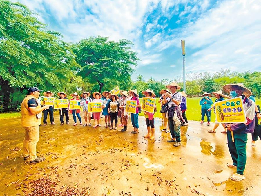 萬金社區發展協會推出一日農夫活動。(潘慈然提供/潘建志屏東傳真)