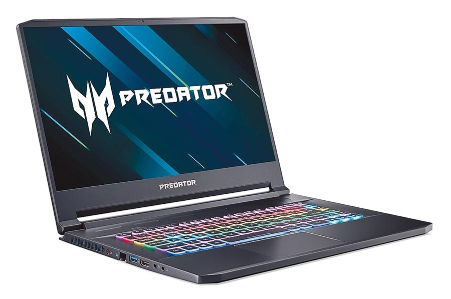Predator Triton 500,搭載第10代Intel Core處理器及GeForce RTX 2080 SUPER顯示晶片Max-Q設計及最高支援32GB DDR4記憶體及2TB PCIe NVMe RAID 0 SSD儲存裝置,10萬5000元。(宏碁提供)