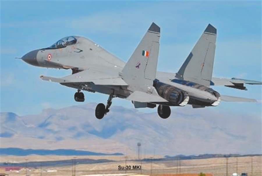 印度空軍的蘇-30戰鬥機。(取自印度空軍網)