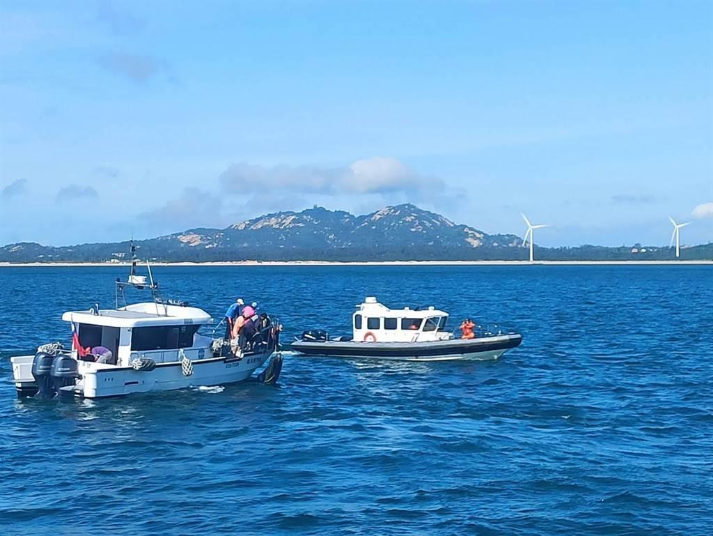 金門海巡隊執行「護永專案」,確保海洋生態。(海巡提供)