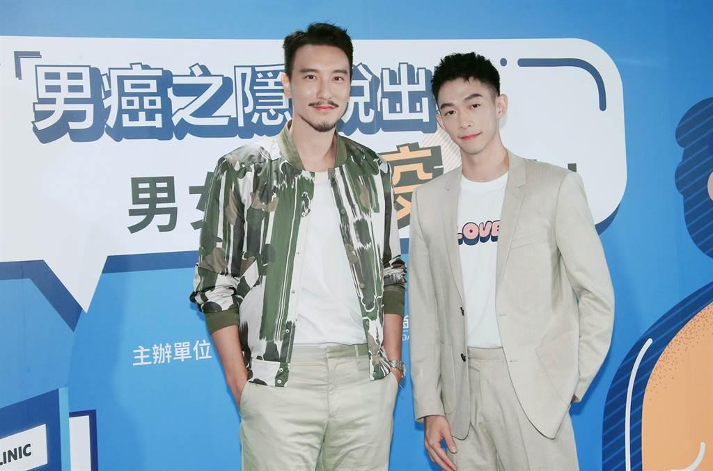 王陽明(左)和王可元今出席衛教活動,兩人也因此上了一課,對HPV預防更加了解。(羅永銘攝)