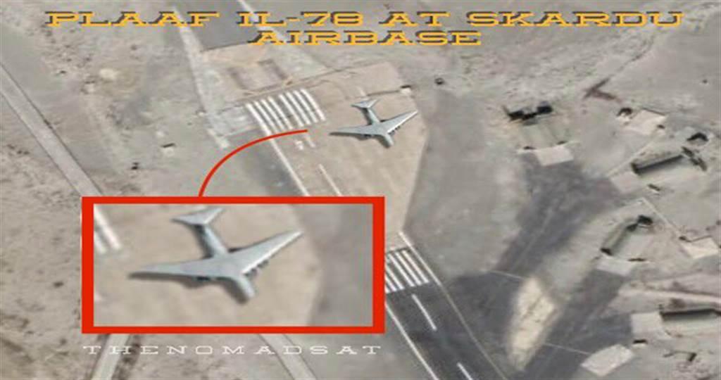 印度的空拍图发现,大陆IL-78加油机在巴基斯坦空军基地。(图/fighterjetsworld)