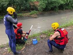 防範溪流附近溺水事件 大美分隊強化水域搶救訓練