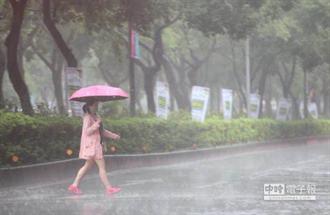 有鋒面接近!明高壓減弱慎防午後雷雨及瞬間強降雨