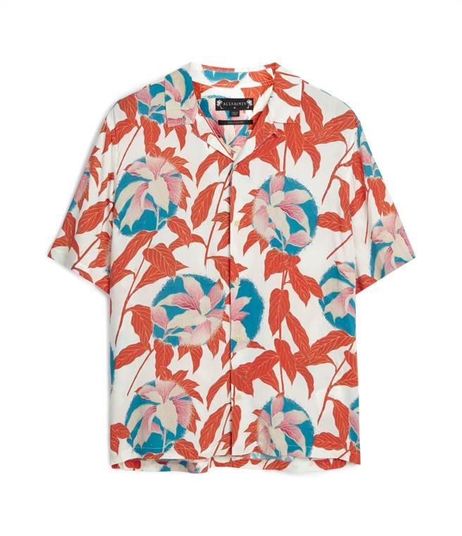 SOGO復興館ALLSAINTS Vine紅色印花襯衫,原價4800元、特價3360元,限量10件。(SOGO提供)