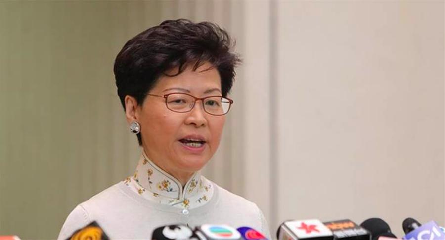 香港特首林鄭月娥表示,法例正式實施後,港府會盡力解釋如何落實執行。(中新社資料照)