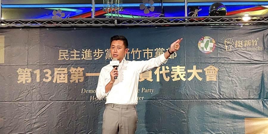 對於自己的下一步,新竹市長林智堅首次回應表示,民進黨在竹市延續優質市政,才是他最在意的事。(陳育賢攝)