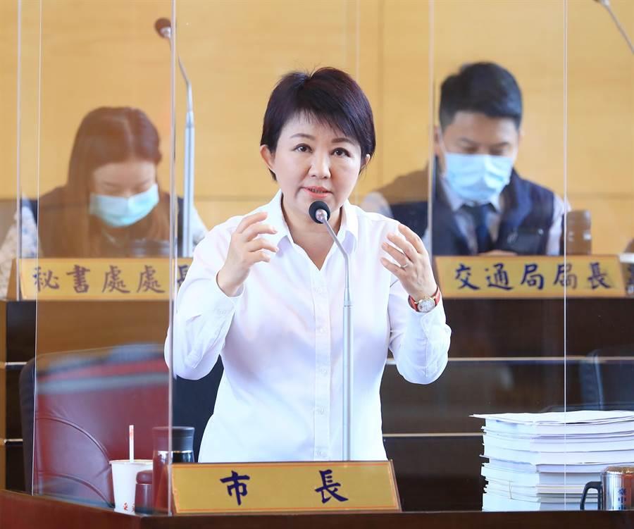 市長盧秀燕說,她感到非常的不捨,但黃議員仍堅持為民發聲、為民請命,藉此表達市民及中部人的心聲,令人感佩。(陳世宗攝)