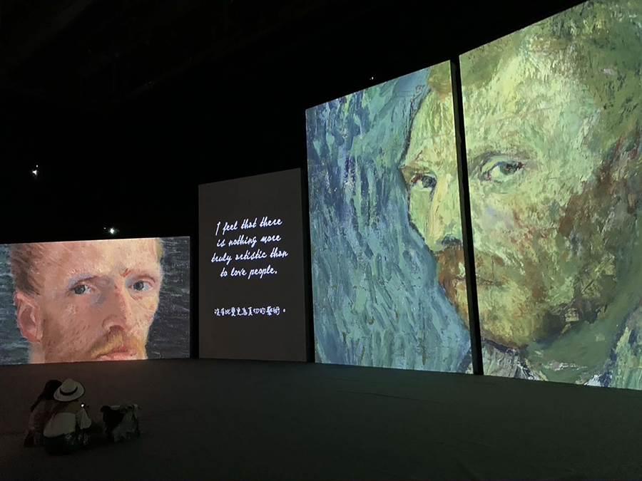 《再見梵谷-光影體驗展》7月1日登場,在新光三越左營店10樓展至9月27日。(柯宗緯攝)