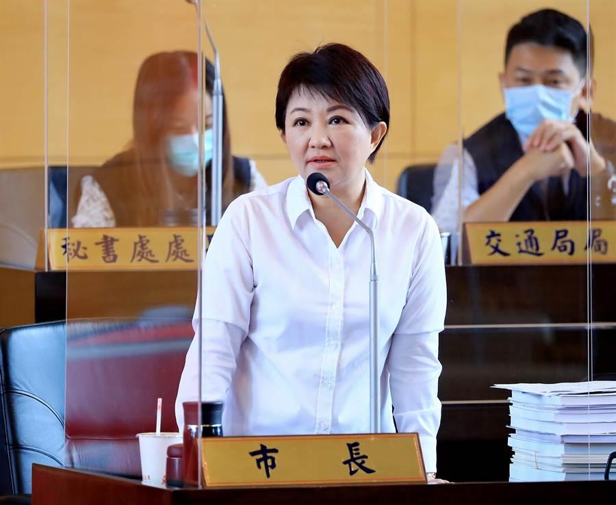 盧秀燕表示,台電每年預算達6000億,市府對中火處罰2000萬元,對台電來講根本「不痛不癢」。(陳世宗攝)