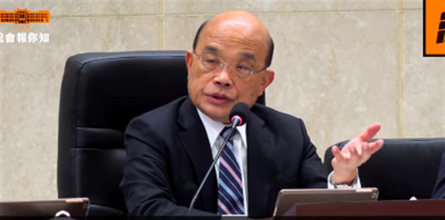 立院若同意處理紓困預算蘇揆將親赴大院報告(蘇揆臉書擷圖)
