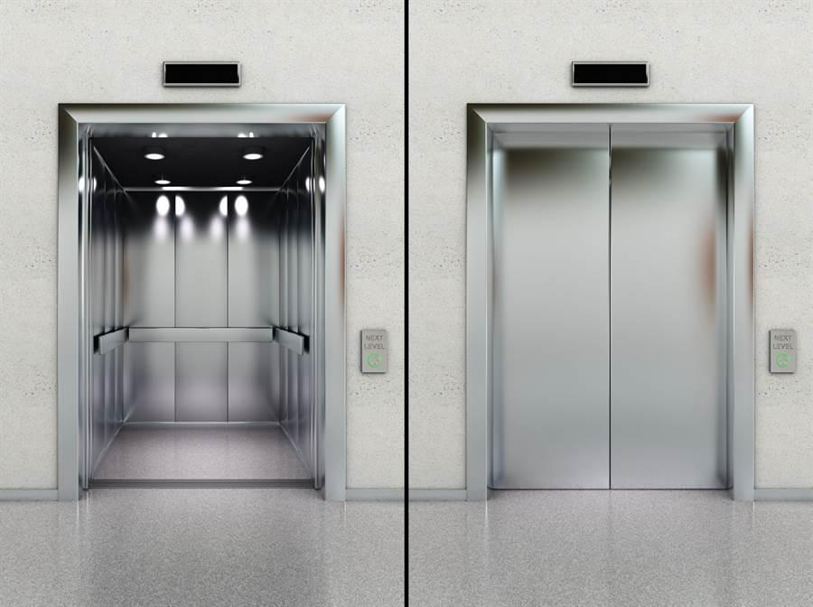 1名大陸男童自己已搭上電梯,為了讓趕不及的少年共同搭乘,他好意立即按下開門鍵,卻是讓男童迎向死亡深淵的開始。(示意圖/達志影像/Shutterstock提供)