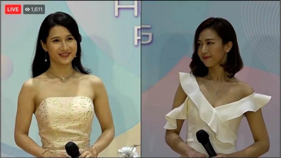 女星蔡頌思因為身高僅157公分,站在其他佳麗身旁顯得特別矮,也有不少酸民認為她身高不夠格,還詛咒她落選。(圖/ 摘自東網)