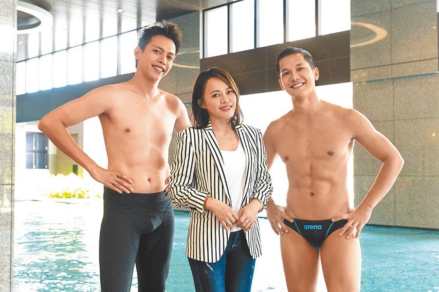 戴愛玲(中)客串演出《女力報到最佳拍檔》,與梁瀚名(右)、鯰魚哥對戲。(TVBS提供)