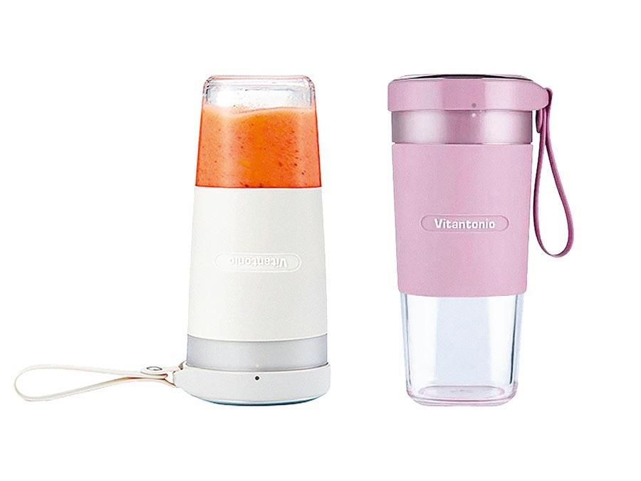 vitantonio無線電動隨行果汁杯(白粉),原價1280元,特價1080元。(台隆手創館提供)