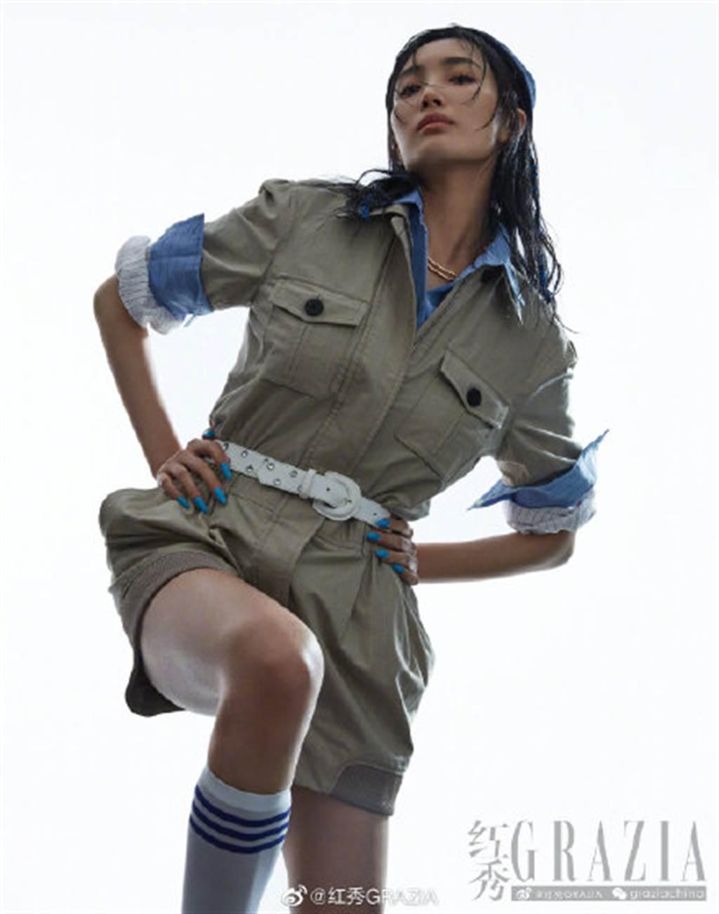 王紫璇半透視蕾絲秀長腿!逆天氣場狂噴仙氣(圖/摘自微博@紅秀GRAZIA)