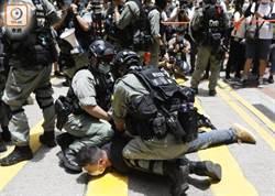港泛民派人士上街抗議 逾300人被拘 9人涉違反《香港國安法》