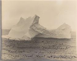 撞沉鐵達尼號的冰山 檔案照片正在拍賣