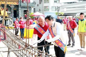 參與善化東嶽殿上梁典禮 黃偉哲祈求台灣早日脫離疫情